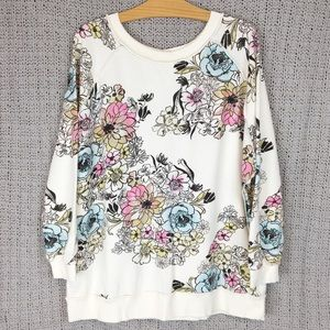 Free People Tops - Free People Go on Get Floral Print Sweatshirt